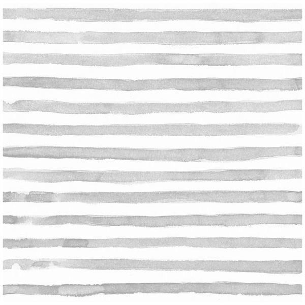 Watercolor Horizontal Stripe Wallpaper Striped Wallpaper Grey