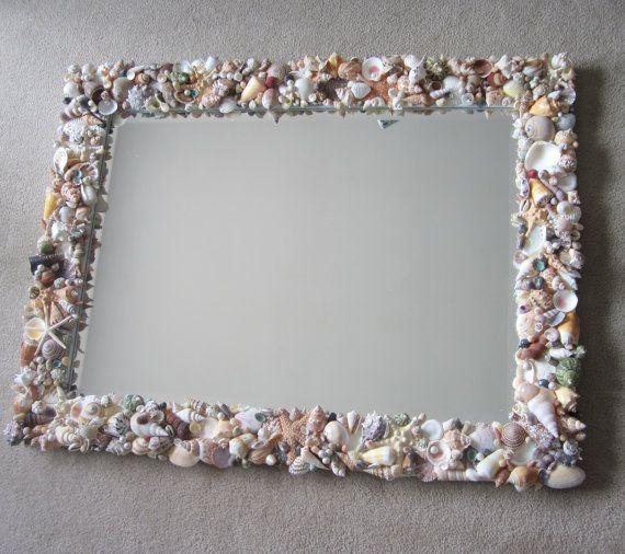 Nautical Decor Seashell Mirror Beach