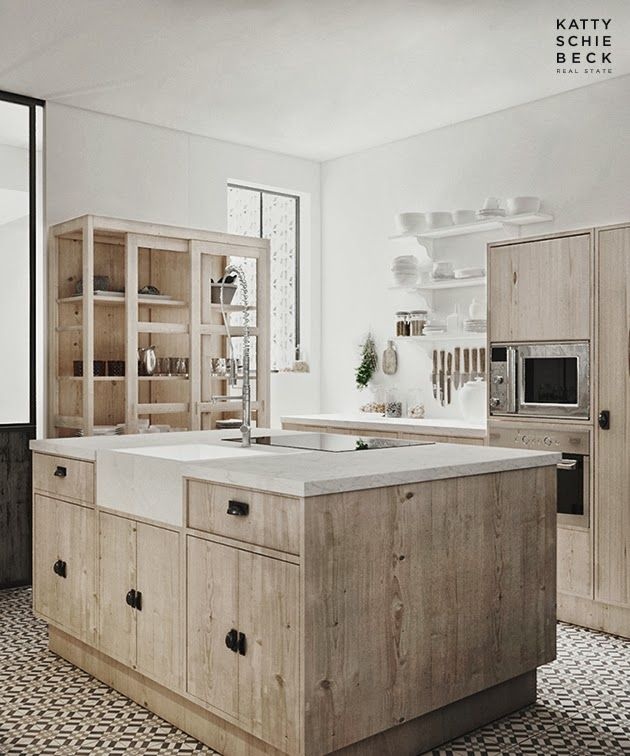 Wood and White in Barcelona | Kitchen | Pinterest | Madera, Cocinas ...