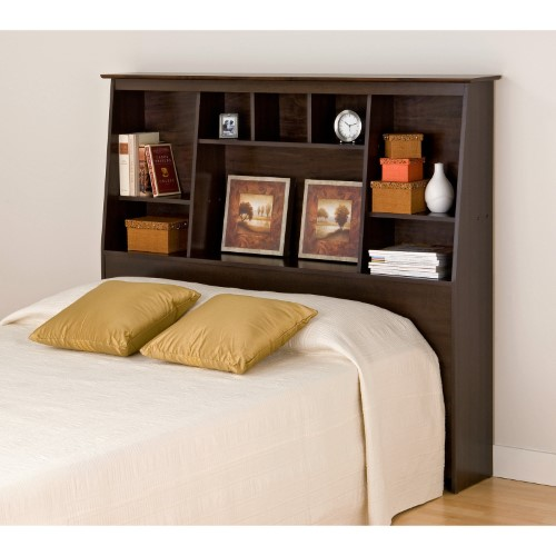 Prepac Sonoma Tall Double Queen Storage Headboard Multiple Colors