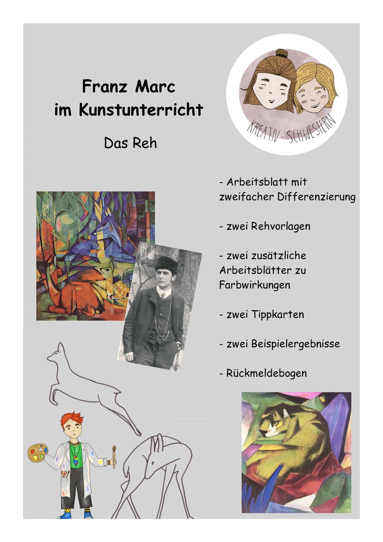 Kunst Idee Fur Die Grundschule Franz Marc Unterrichtsmaterial Im Fach Kunst Kunstler Grundschule Franz Marc Kunst Grundschule