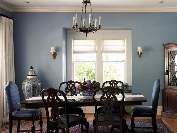 Formal Dining Room Painted Dunn Edwardss Northern Pond Color Of The Month February 2015