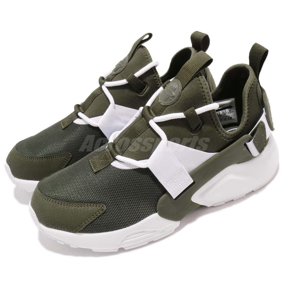 Nike W Air Huarache City Low Cargo Khaki Green White Women Shoes ...