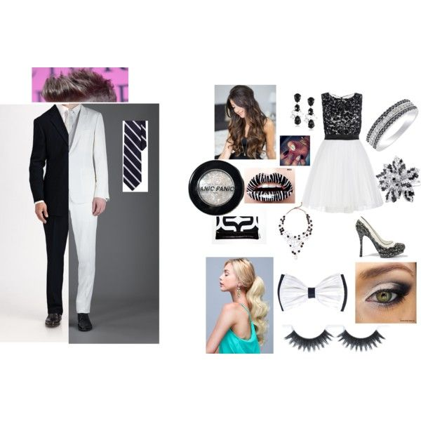 """black and white"" by cheyennedurio on Polyvore"