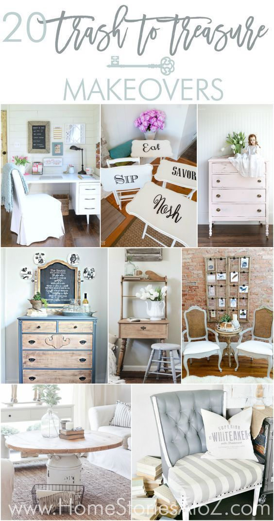 20 Trash To Treasure Makeovers Diy Thrift Store Furniture Diy
