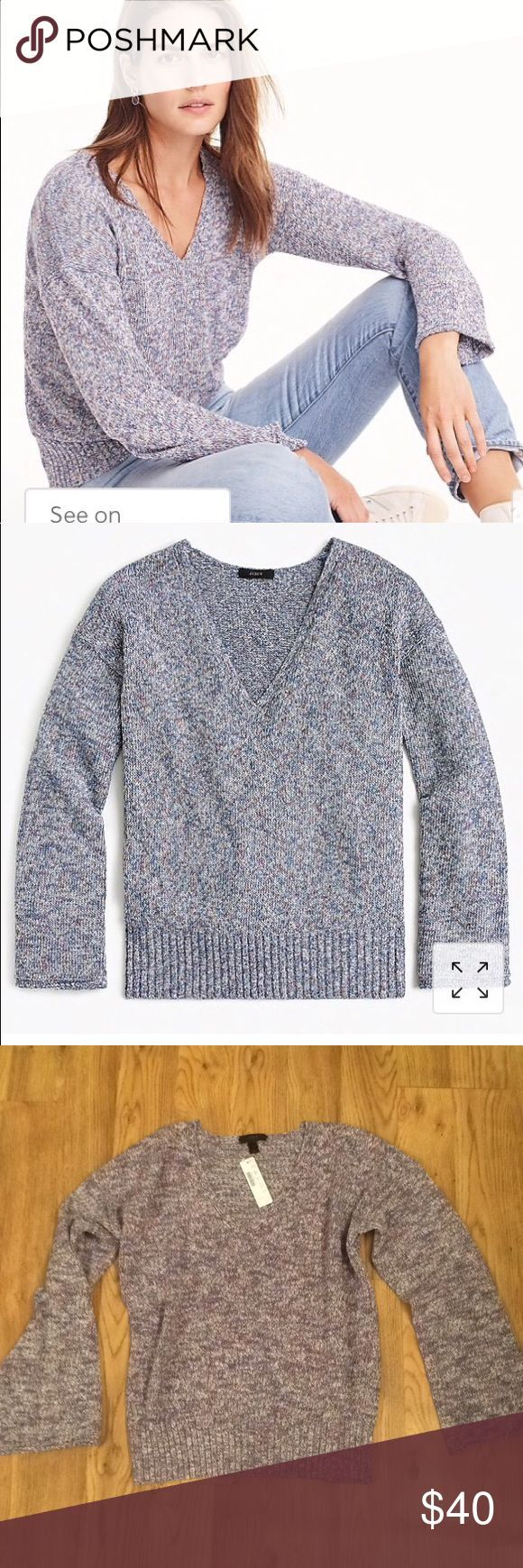 NWT J.Crew Marled Swing Sweater The throw on and g