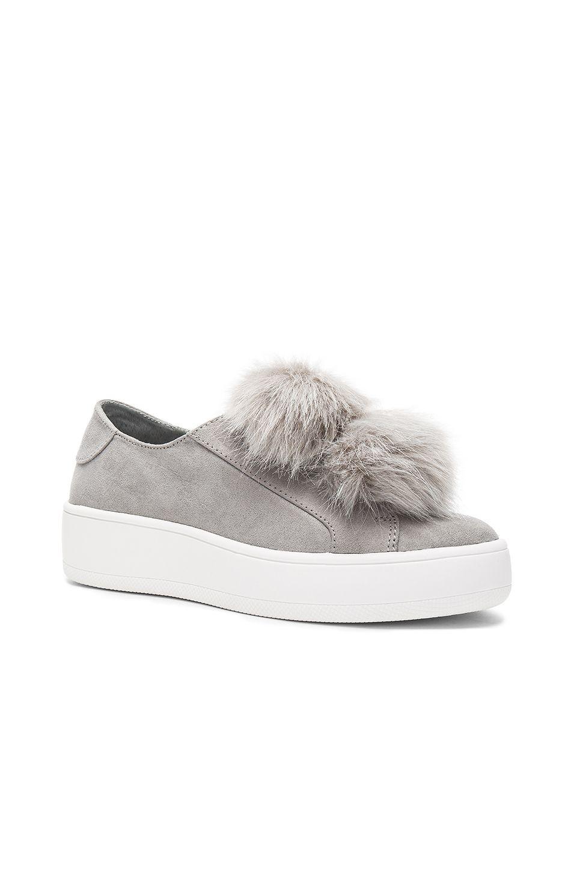 Steve Madden Bryanne Faux Fur Sneaker in Grey Multi | REVOLVE