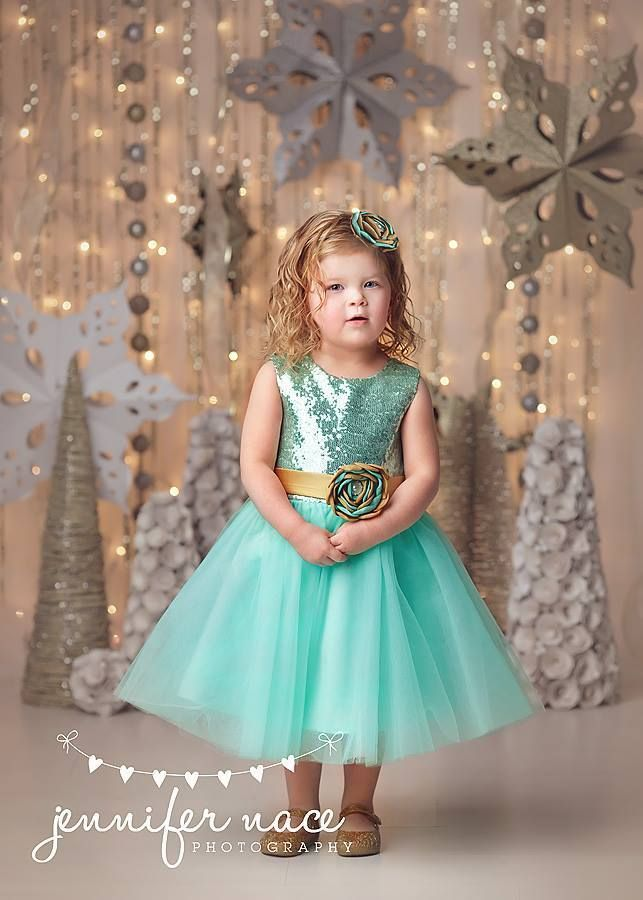 435c69dee8 Kutie Tuties - Mint and Gold Sequin Dress