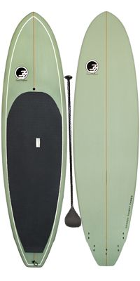 9'6 TRITON SURF SUP GREEN EPOXY. Epoxy Stand Up Paddle Surfboard.