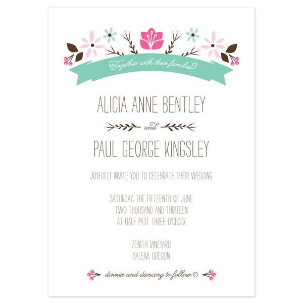 Folksy Floral Wedding Invitations Floral wedding, Floral and Weddings - best of sample letter declining invitation to event