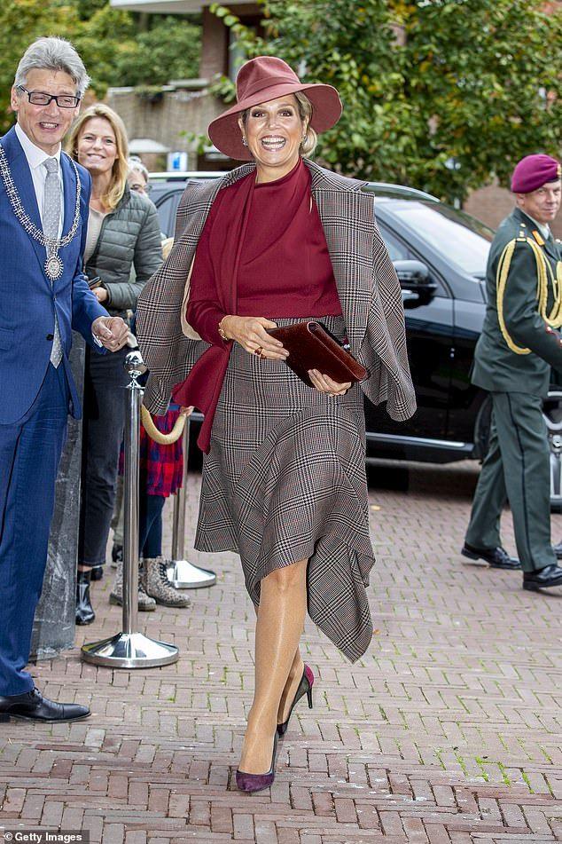 Queen Maxima of the Netherlands meets with volunteers in Amersfoort