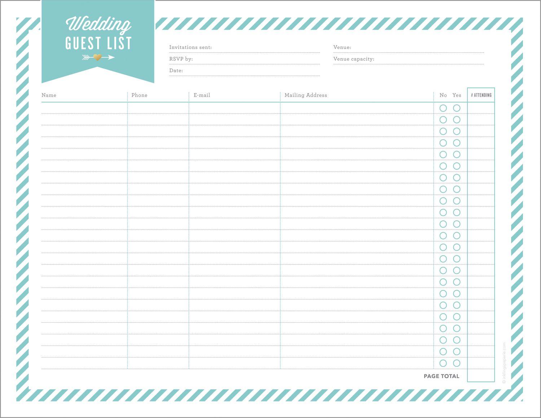 Free Wedding Planning Printables Amp Checklists
