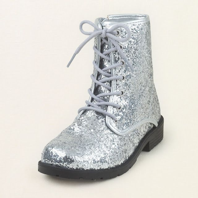 sparkly combat boots | Sparkly combat