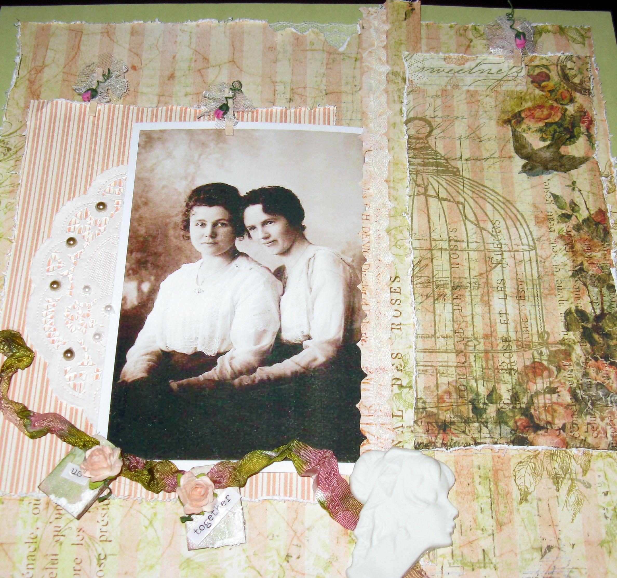 "Granma and her sister ""Us Together"" - Scrapbook.com"