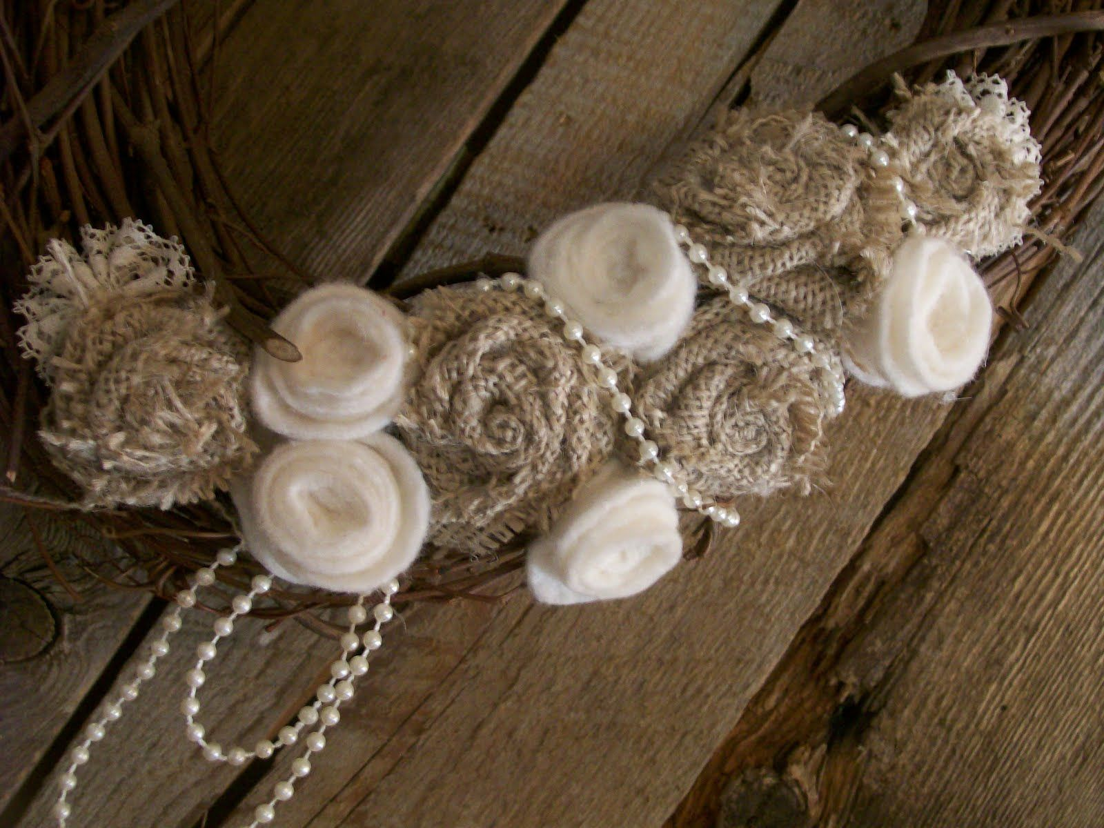 Shabby Chic Burlap Ideas | Morganu0027s Emporium: SOLD Shabby Chic Burlap And  Lace Wreath