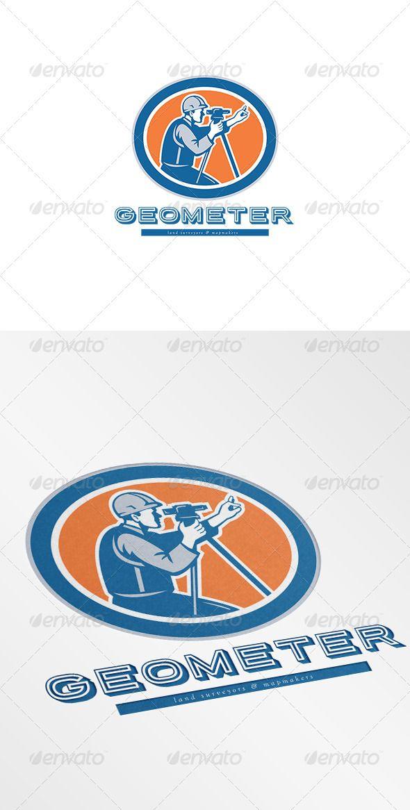 Geometer Land Surveyor and Mapmaker Logo   Land surveyors, Logo ...
