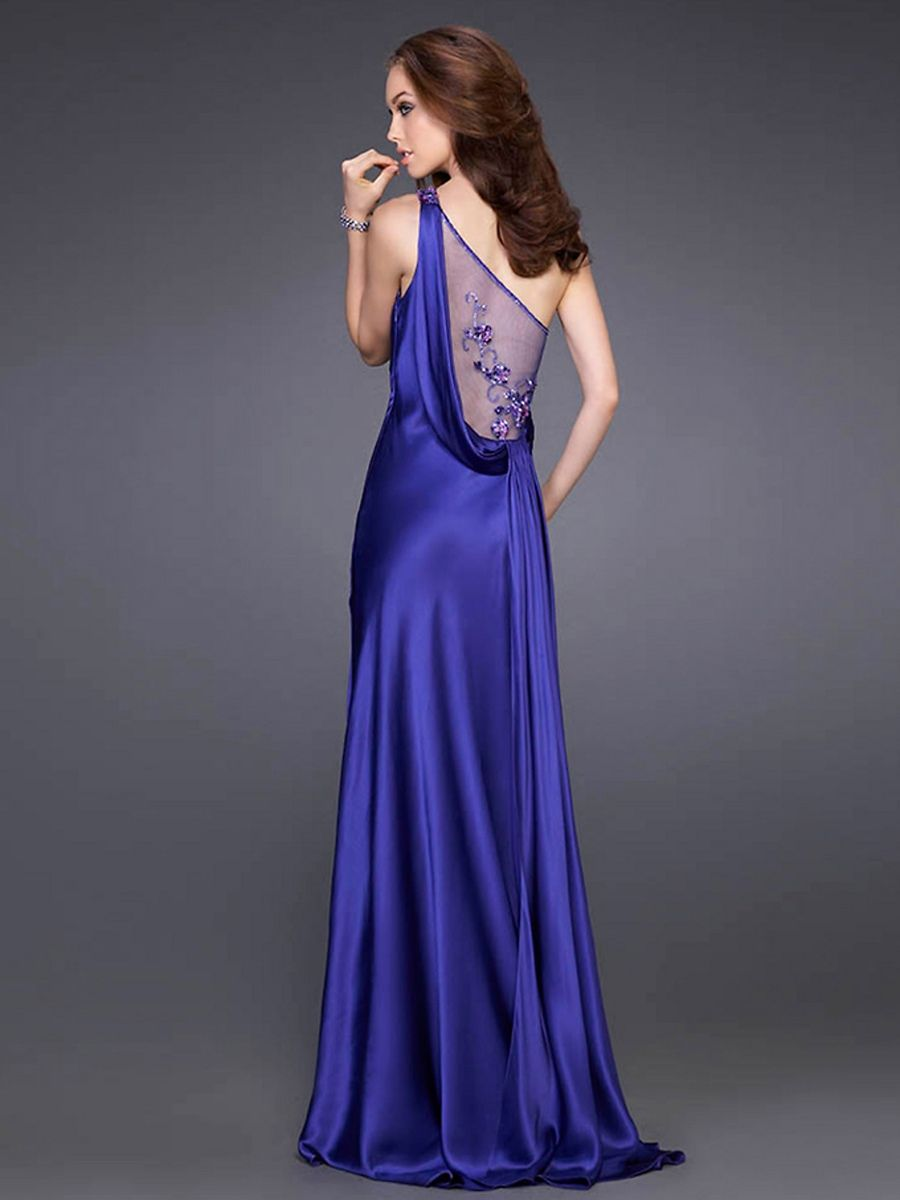 Midnight Blue Satin Dress Midnight blue | RACHEL's dresses ...