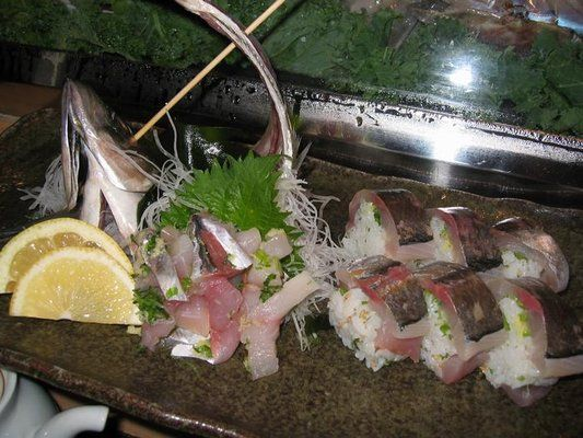 Aji (Spanish Mackerel) Sashimi and Sushi   World's Most ...