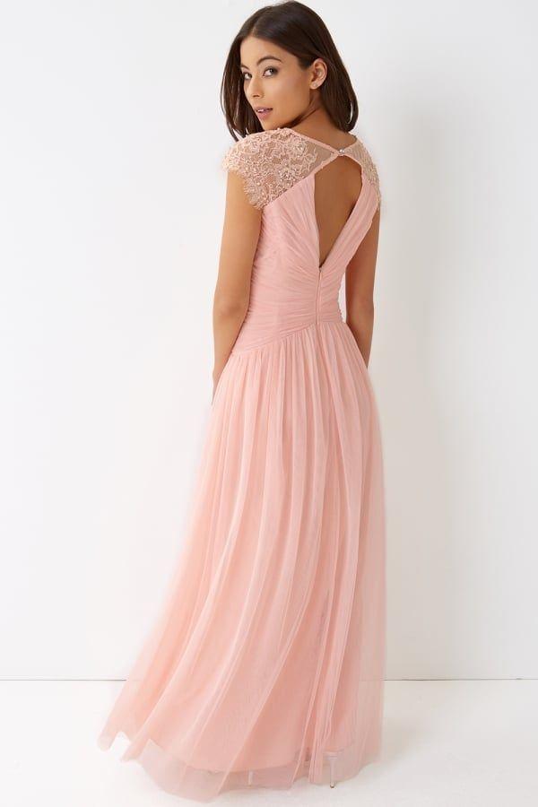 Little Mistress Pink Tulle Maxi Dress - Little Mistress from Little ...