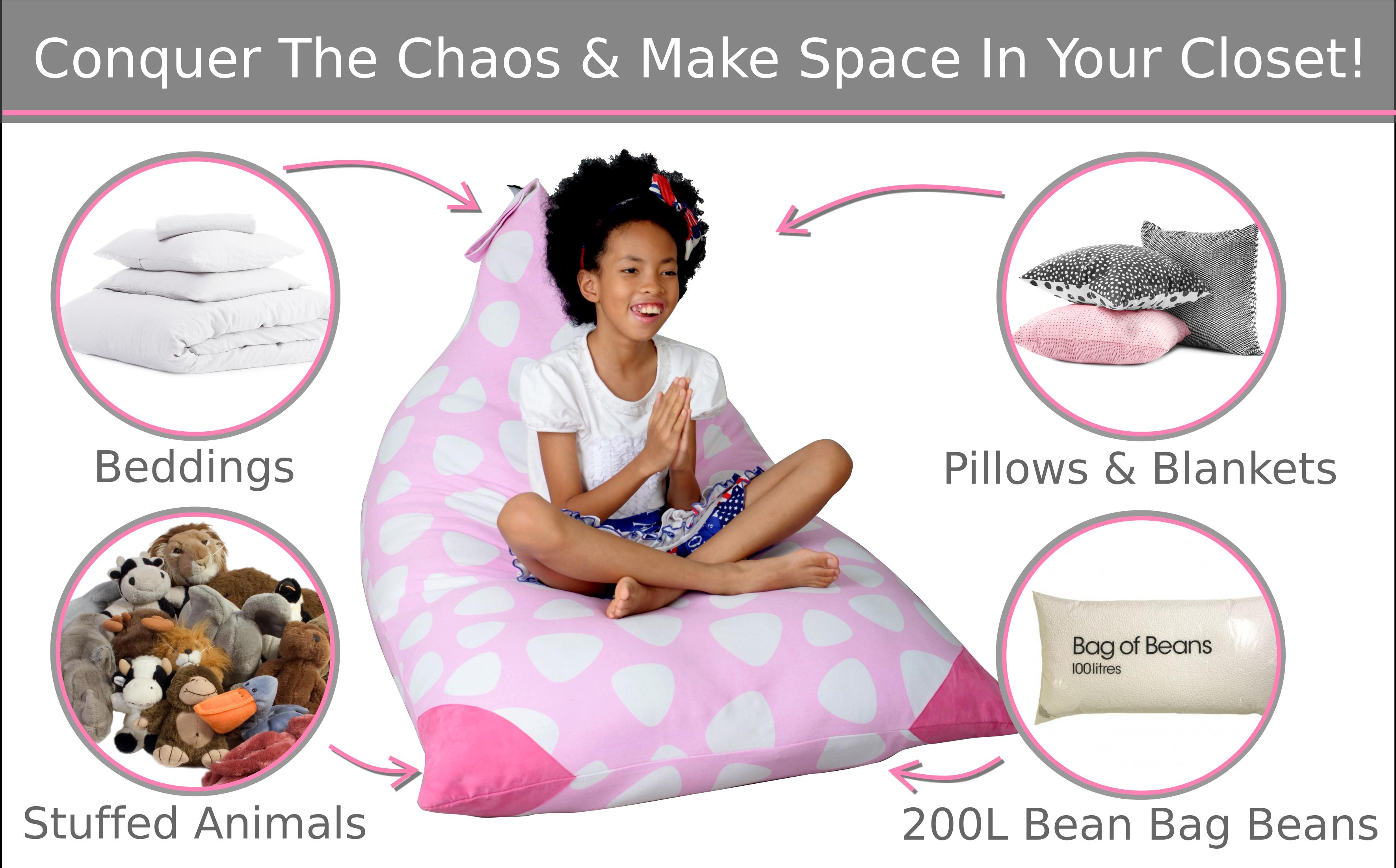 Terrific Mylola Kids Stuffed Animal Bean Bag In Pink Stuff N Sit Theyellowbook Wood Chair Design Ideas Theyellowbookinfo