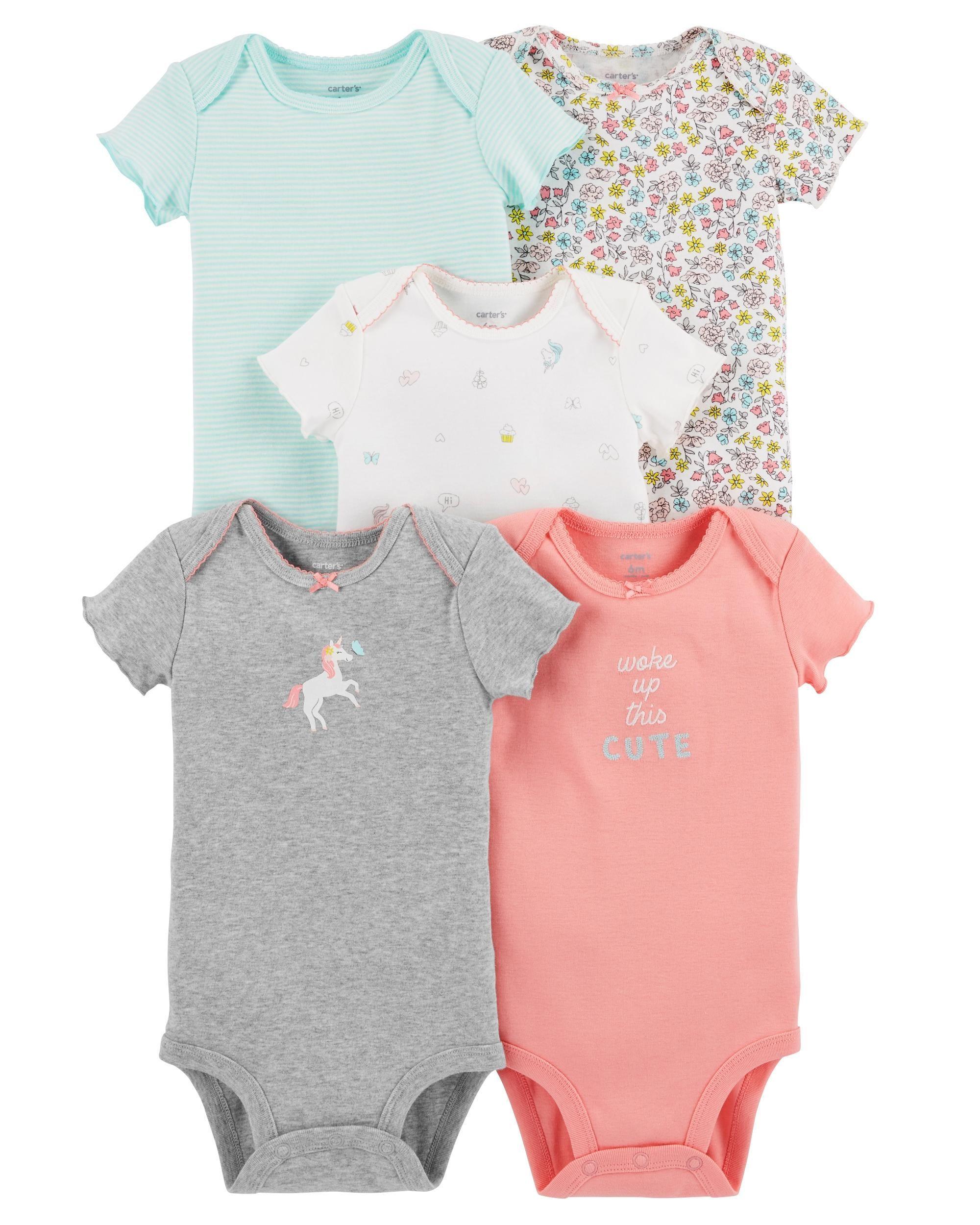 Baby Girl 5-Pack Short-Sleeve Original Bodysuits  9dee0845224