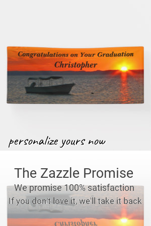 Personalized Fishing Boat Graduation or Retirement Banner |  Personalized Fishing Boat Graduation or Retirement Banner
