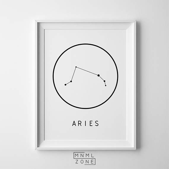 Aries Poster Zodiac Sign Print Large Constellation Large Wall Art Unique Astrology Art Boys Room Constellation Wall Art Sign Printing Constellation Print