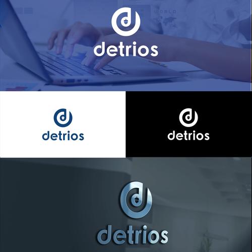 Create a professional, modern logo for Detrios, a software