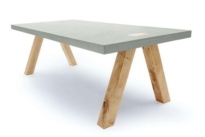 Massivholz Design beton möbel ideal für den essbereich mit massivholz design beton