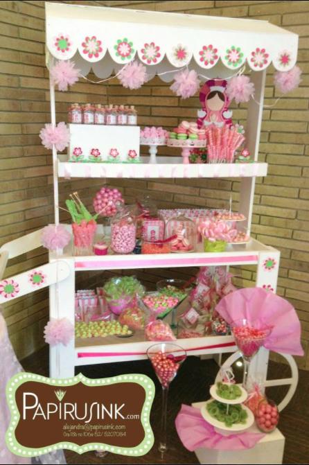 Mesa de dulces primera comuni n ni a postres decoraci n - Adornos mesa comunion ...