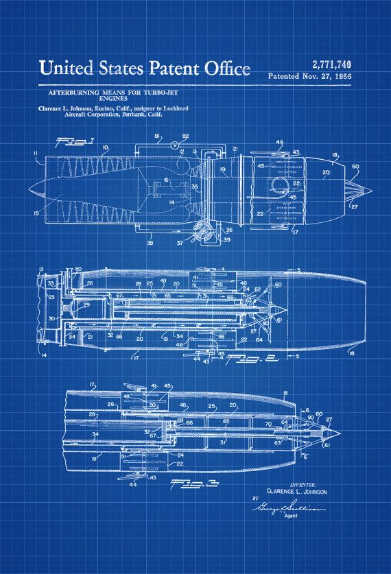 Turbo jet engine afterburner patent airplane blueprint airplane turbo jet engine afterburner patent airplane blueprint airplane art pilot gift aircraft decor airplane poster jet patent by patentsasprints pinterest malvernweather Images