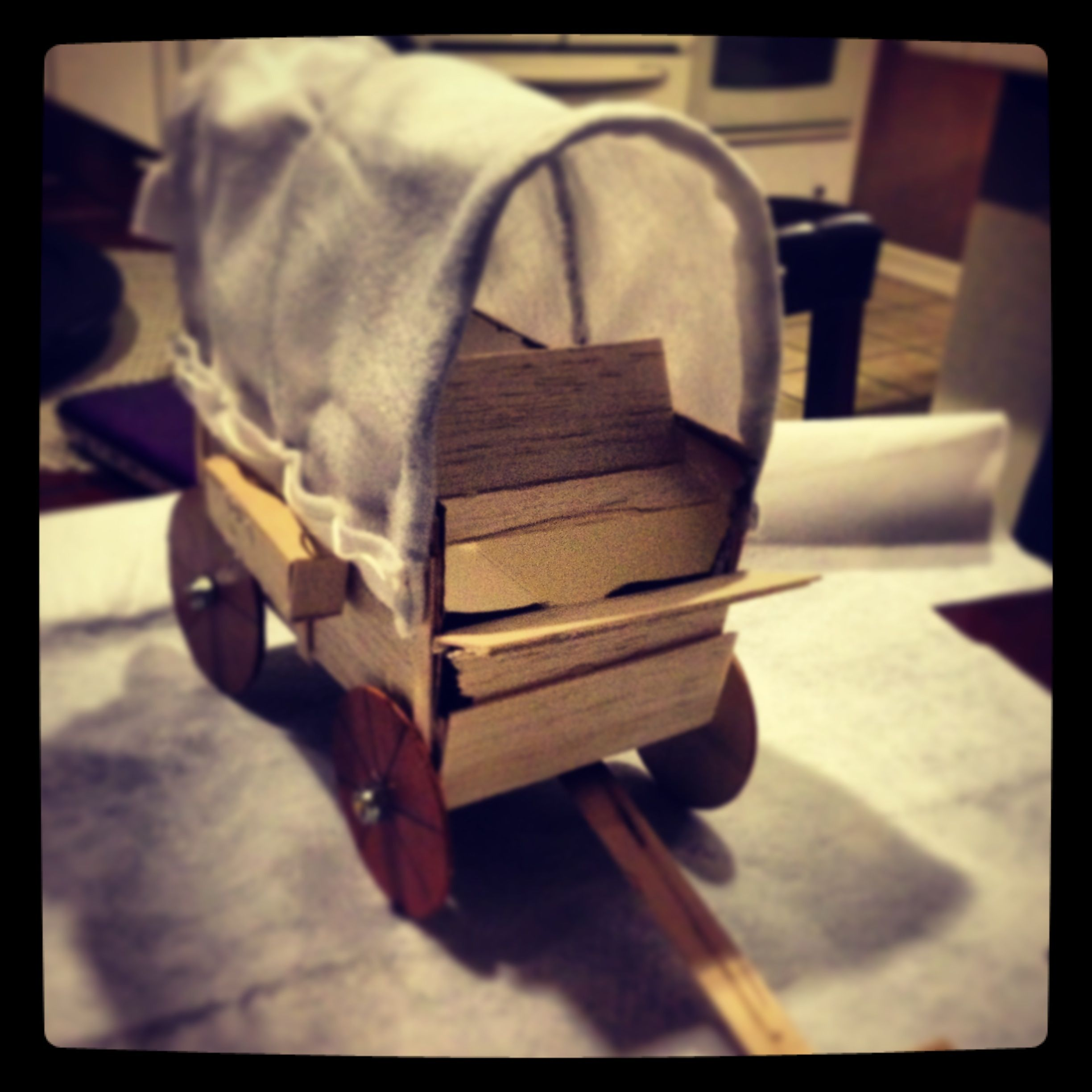 Covered Wagon School Project Childhood Pinterest