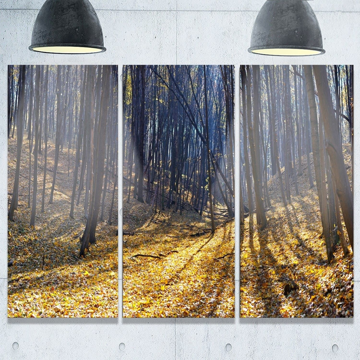 Phase designart thick autumn forest woods oversized forest