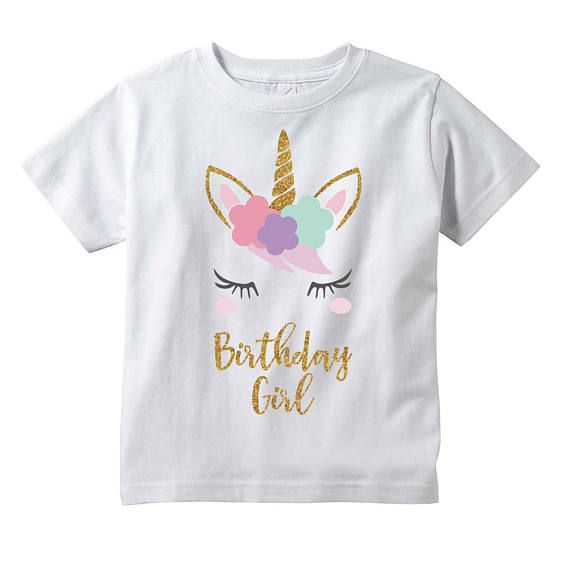 fe085a089006 Girl Unicorn Birthday Shirt - This shirt is the perfect for your little  ones birthday or to give as a gift! We at Bump and Beyond Designs love to  help you ...