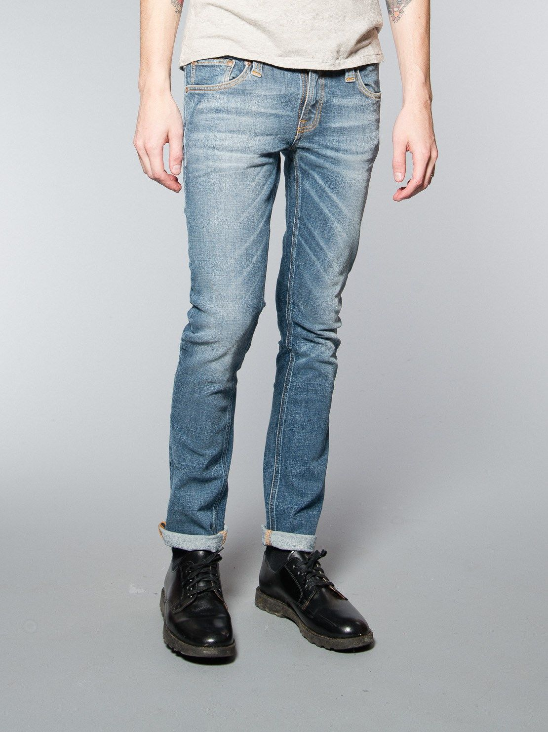 Tight Long John Pure Blue - Nudie Jeans Online Shop  fc9ed8f3be017