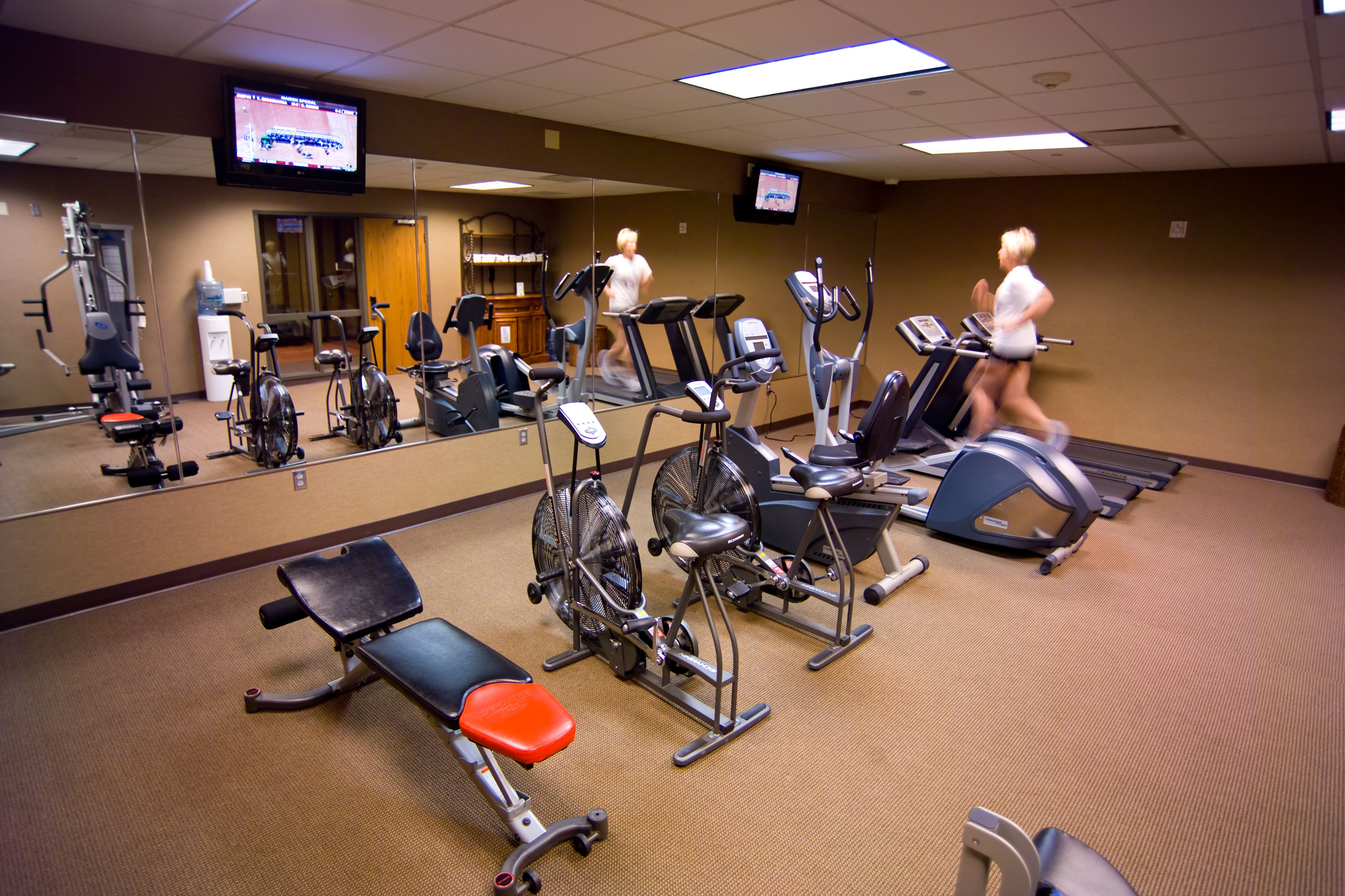 Fitness Center At Kings Pointe Resort In Storm Lake Iowa With