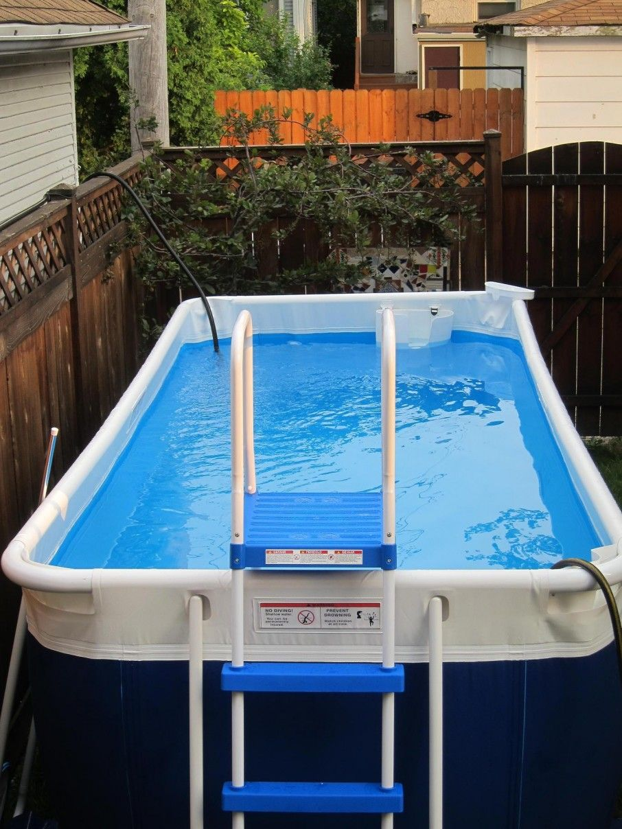 Above ground pool outdoor pool pinterest portable for Square above ground pool