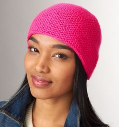 My First Knit Hat | Practice your knitting skills with this brightly colored hat pattern. Perfect for beginners!