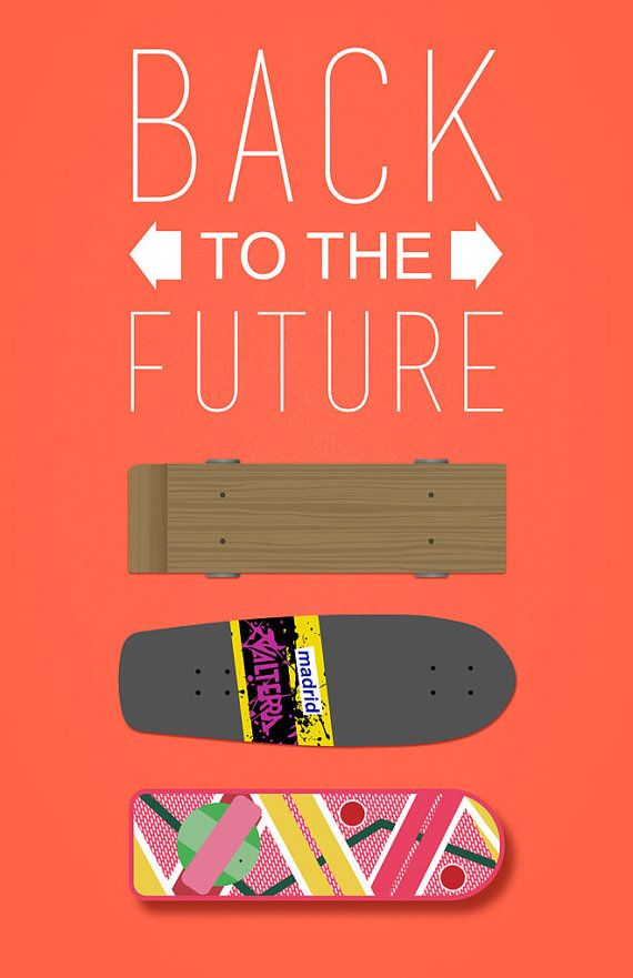 Back To The Future Skateboard Print Back To The Future Future Future Wallpaper