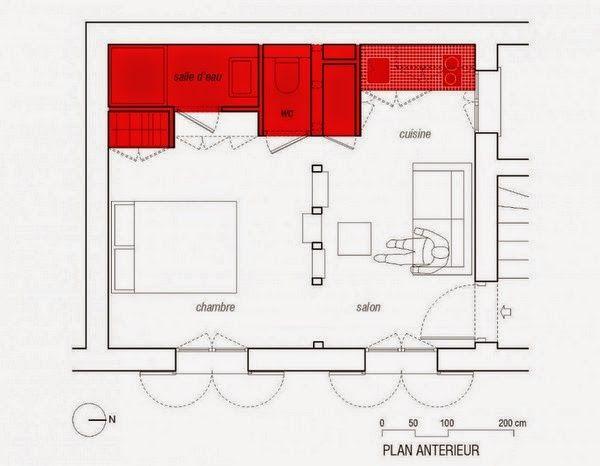 Minipisos y Espacios Pequeños Minipiso parisino de 25 m2 Casas
