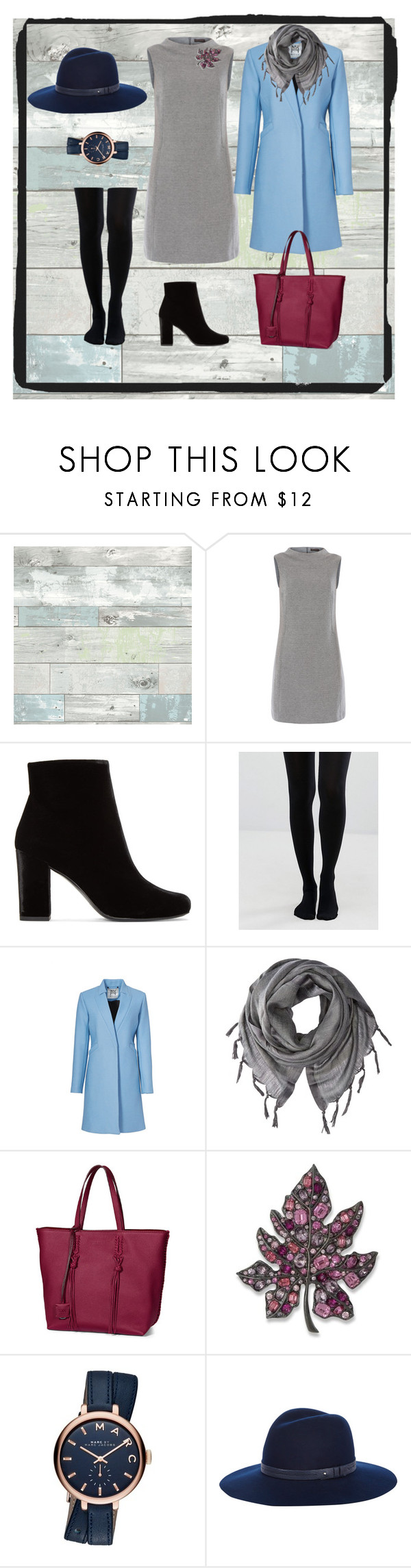 """""""Walikng the hat"""" by tatiana-touraeva on Polyvore featuring Wall Pops!, Peserico, Yves Saint Laurent, Jonathan Aston, Milly, Love Quotes Scarves, Tod's, Kenneth Jay Lane, Marc Jacobs and rag & bone"""