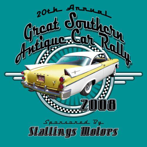 Great Southern Antique Car Rally KEN YOUNG CO Shirt Design - Car show t shirt design ideas