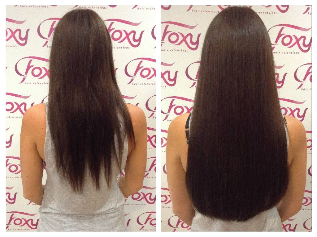 LA Weave 20 inch, before and after back shot.