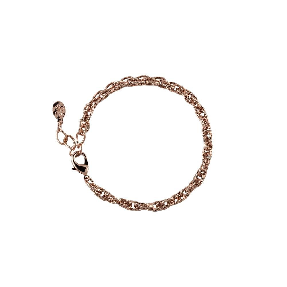 Rose gold tone textured rope bracelet from south hill designs