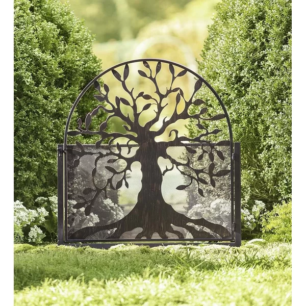 4 ft. H x 3 ft. W Garden Tree of Life Metal Gate Metal