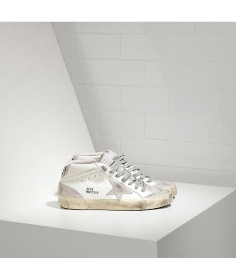 Golden Goose Mid Star Sneakers In White