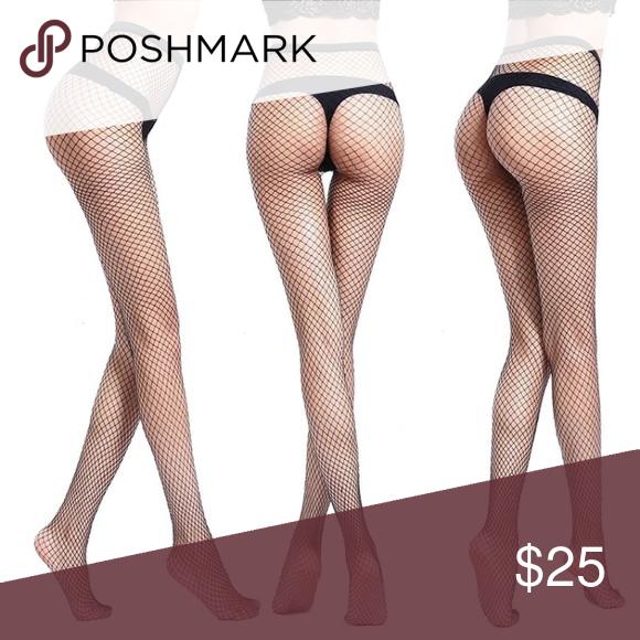 22dd78c546577 Sexy Black Fishnet Stockings Panty Hose Tights Sexy Black Fishnet Stockings.  One size fits all. Nylon spandex. Brand new with tags.