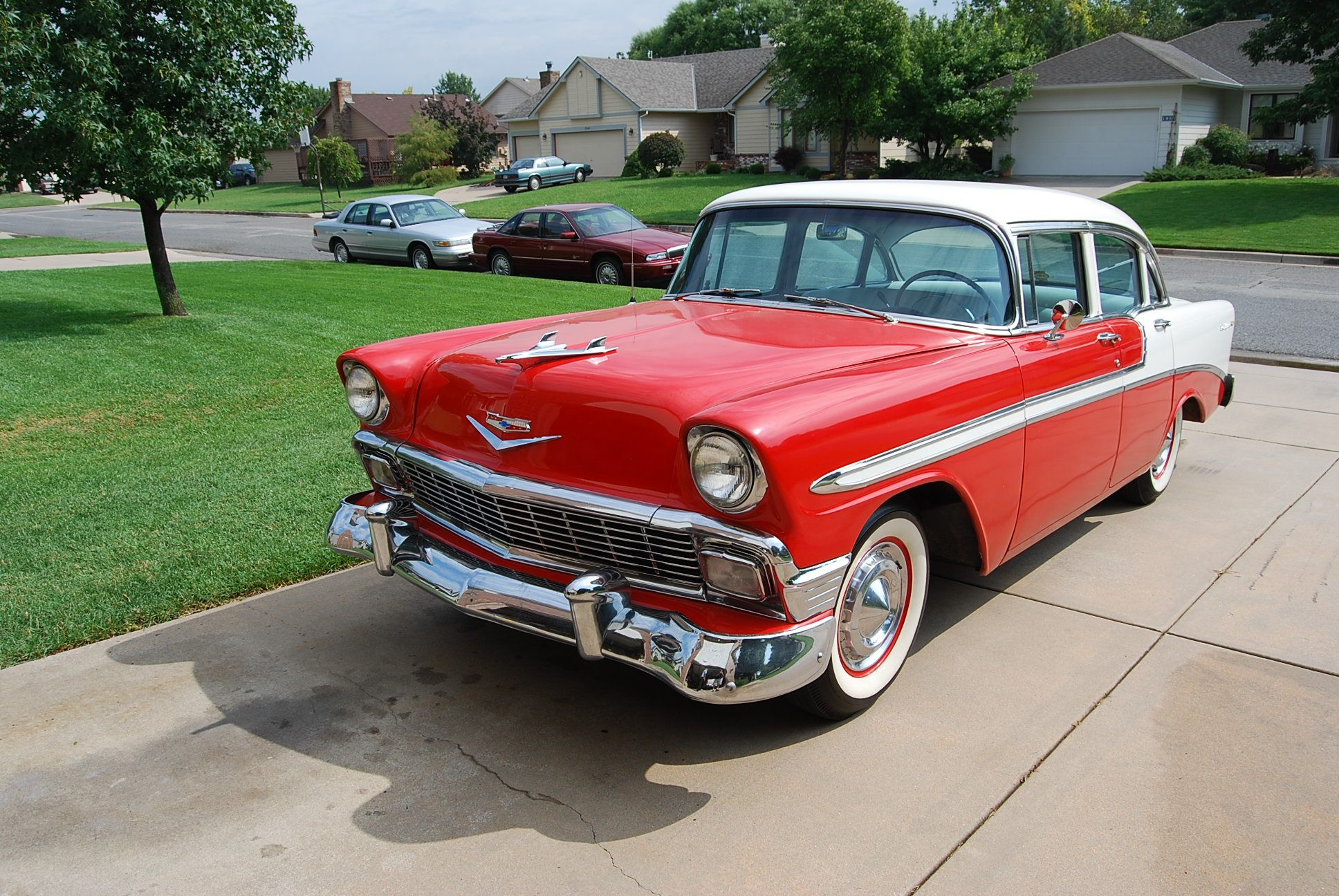 Motor n 1956 chevrolet belair 4 door sedan for sale at www motorn