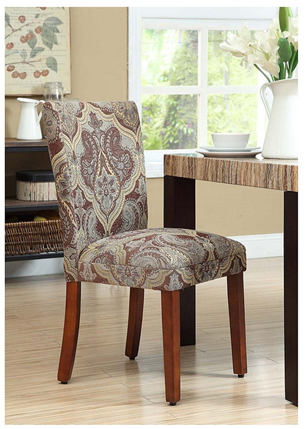 Amazon.com - Parsons Dining Chairs Upholstered Chairs ...