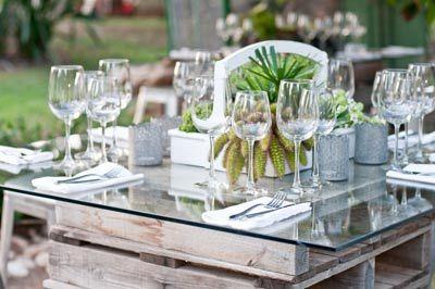mesas boda palets - Buscar con Google